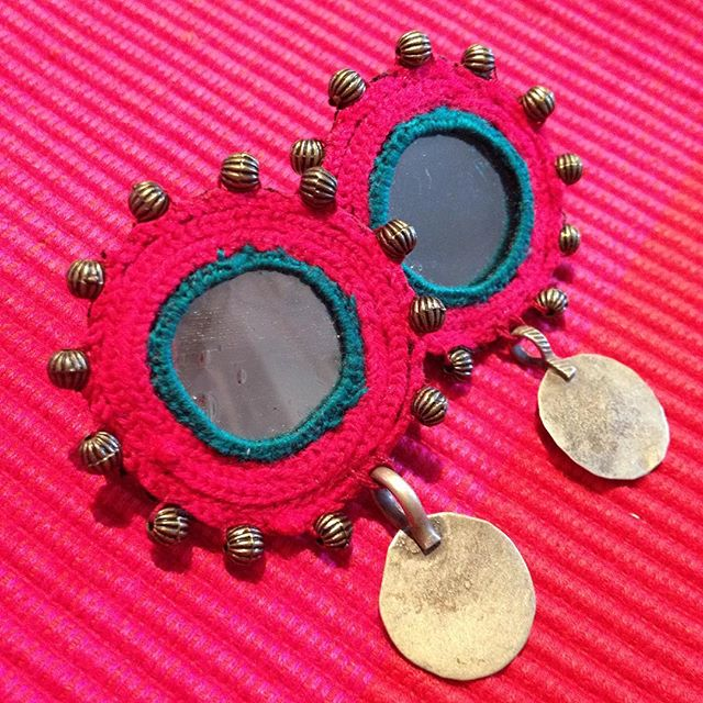 A perfect summer accessory, colourful statement earrings ❤️💗❤️💗 #handmade #madeinIran #ethicalfashion #ethicaljewellery #summerstyle #colour #accessories