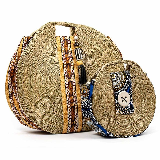 Check out our new sisal bags from Invelo Eswatni with fabric supplied by baobab batik - handcrafted in Swaziland. #ethicallysourcedgifts #beautifulbags #sisalbags #fairtradegifts