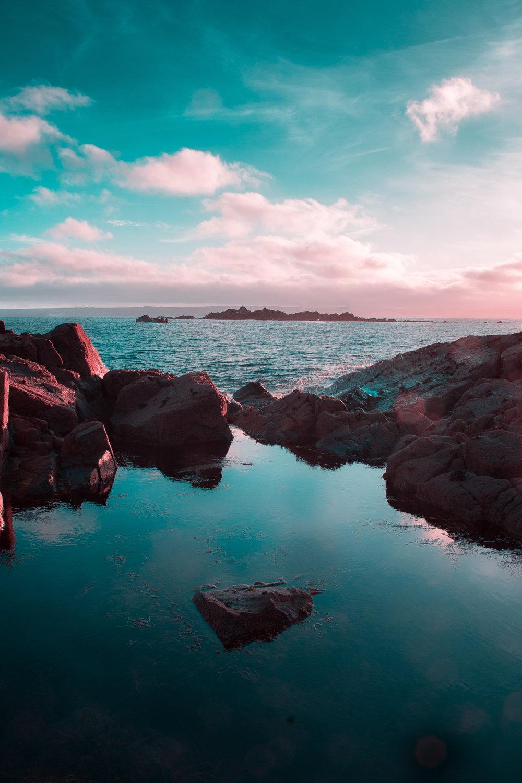 The perfect Cornish rock pool