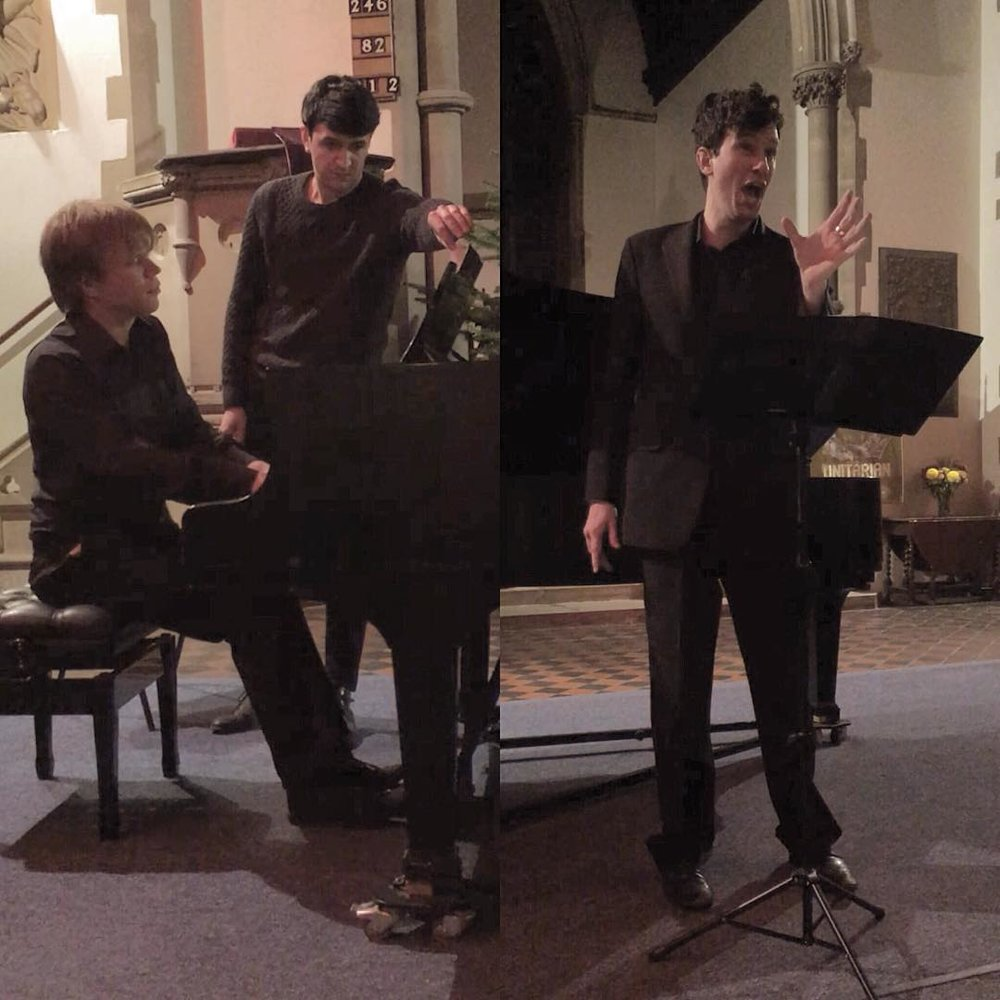Nathan Mercieca (alto) and Edward Liddall (piano) performing my piece  Drawing from Life  last night in a concert for Worlds AIDS Day.