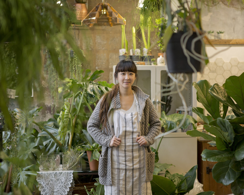 environmental portrait magazine shoot Jin Conservatory Archives Hackney Road botanist plant shop