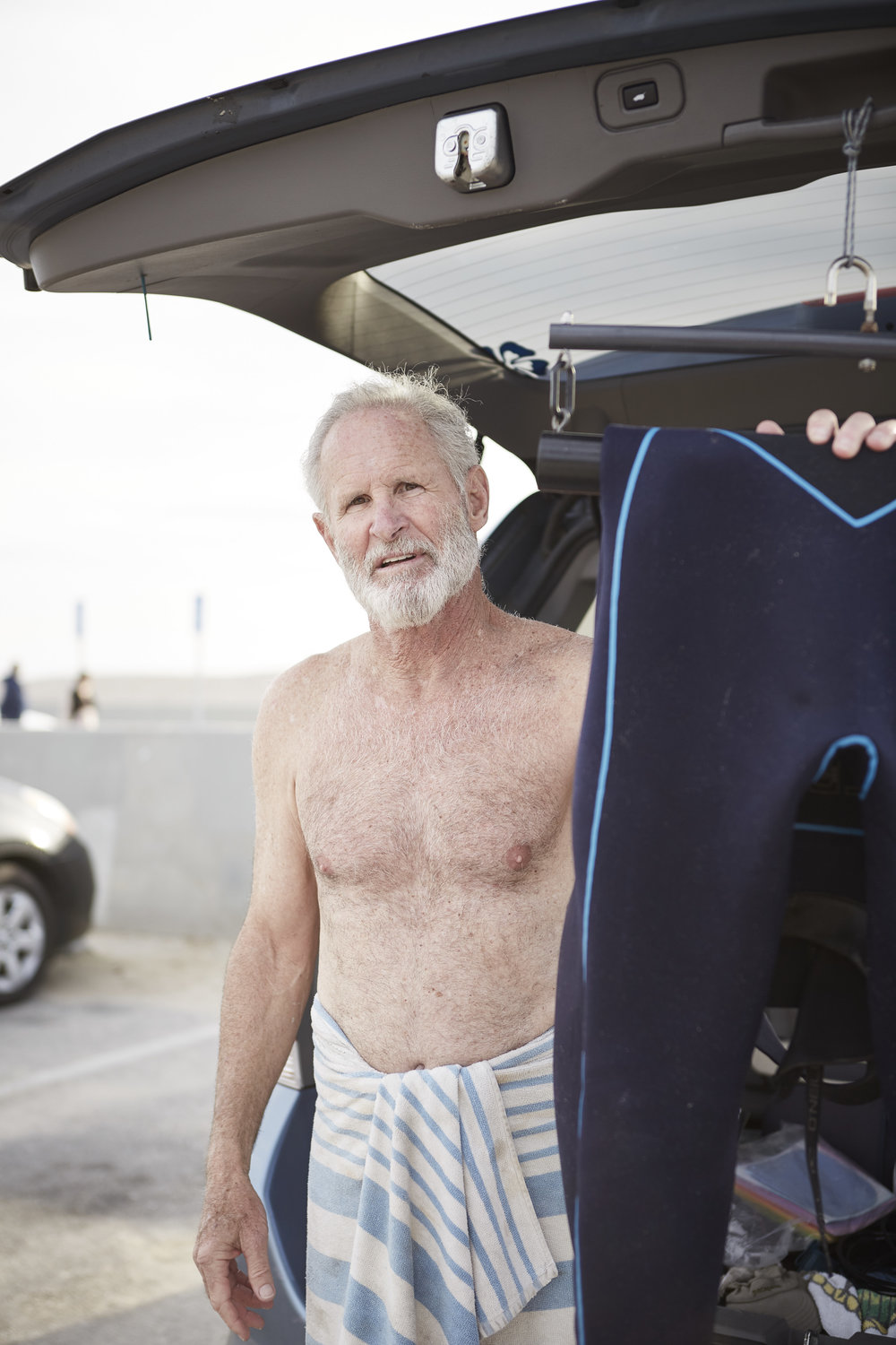 environmental portrait surfer LA Venice Beach Muscle Beach California