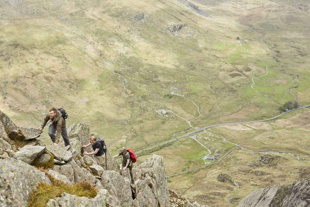 travel adventure photography mountain climbing tryfan snowdonia wales editorial