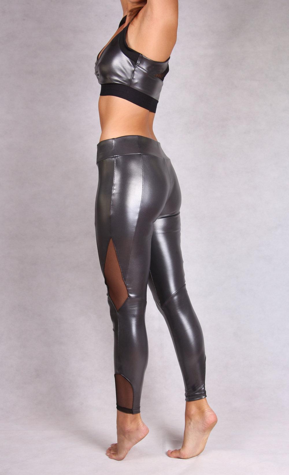 e8ba2377ef40fc WET LOOK LEG - 7/8 MESH DETAIL WET LOOK LEGGING — Kisaiya | Yoga Wear |  Yoga Clothes | Yoga Activewear for Women | Yoga Clothes for Women