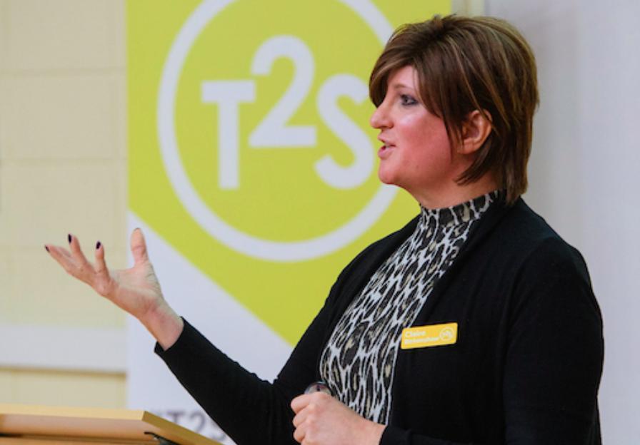 Claire Birkenshaw Think2Speak's Patron