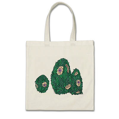 Hairy Cyclops Monsters Tote • $15.75