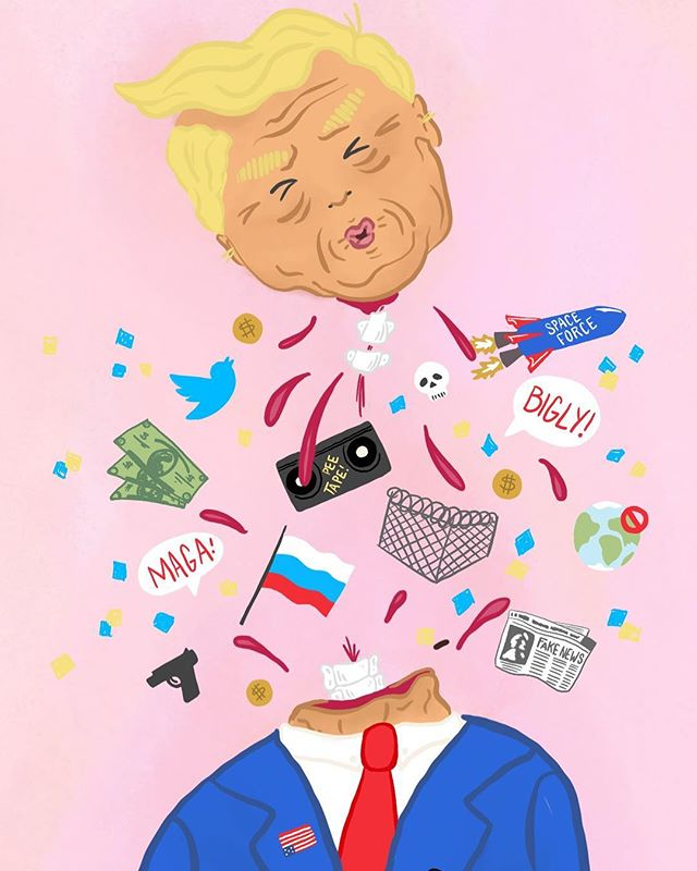 #presidentsday #illustration #illustrator #dumptrump