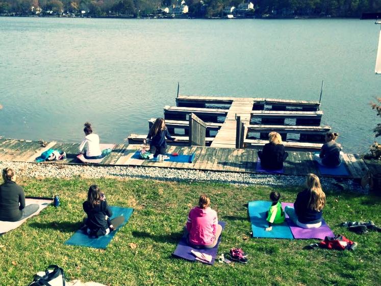 Lakeside Yoga Class ~ Summer 2016