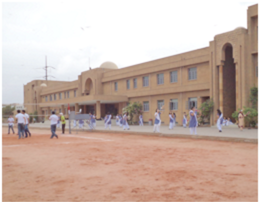 The front of the college campus of KGS (taken from their website)