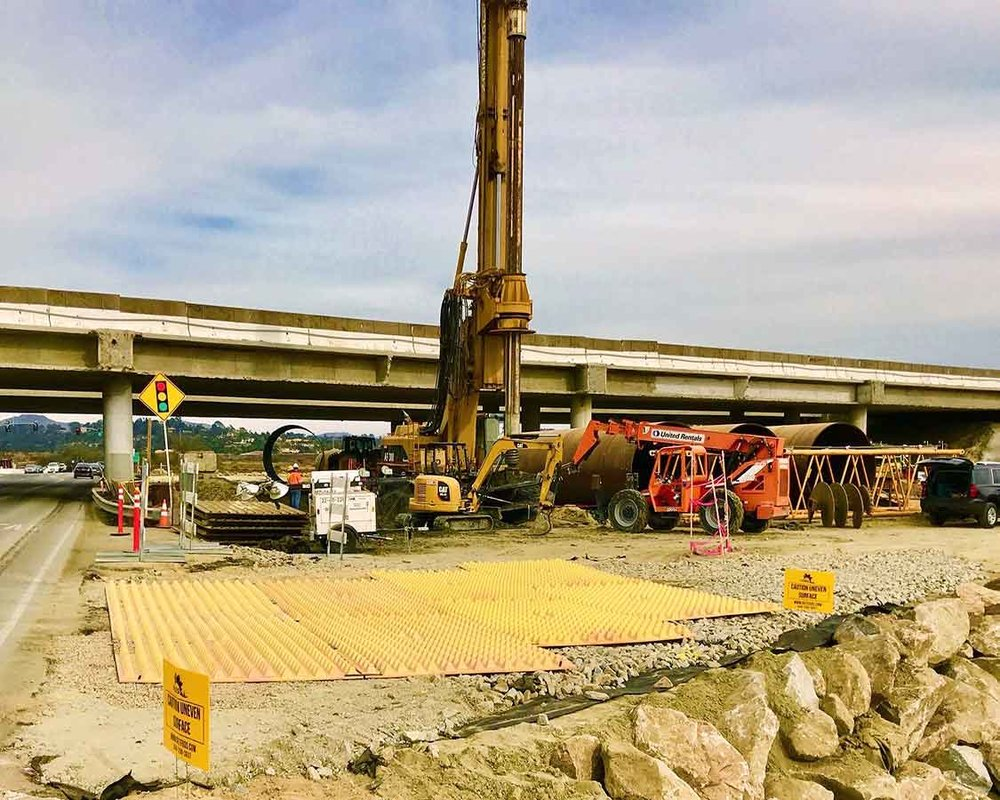 Stabilized Construction Entrance/Exit TC-1 CalTrans in La Jolla, CA