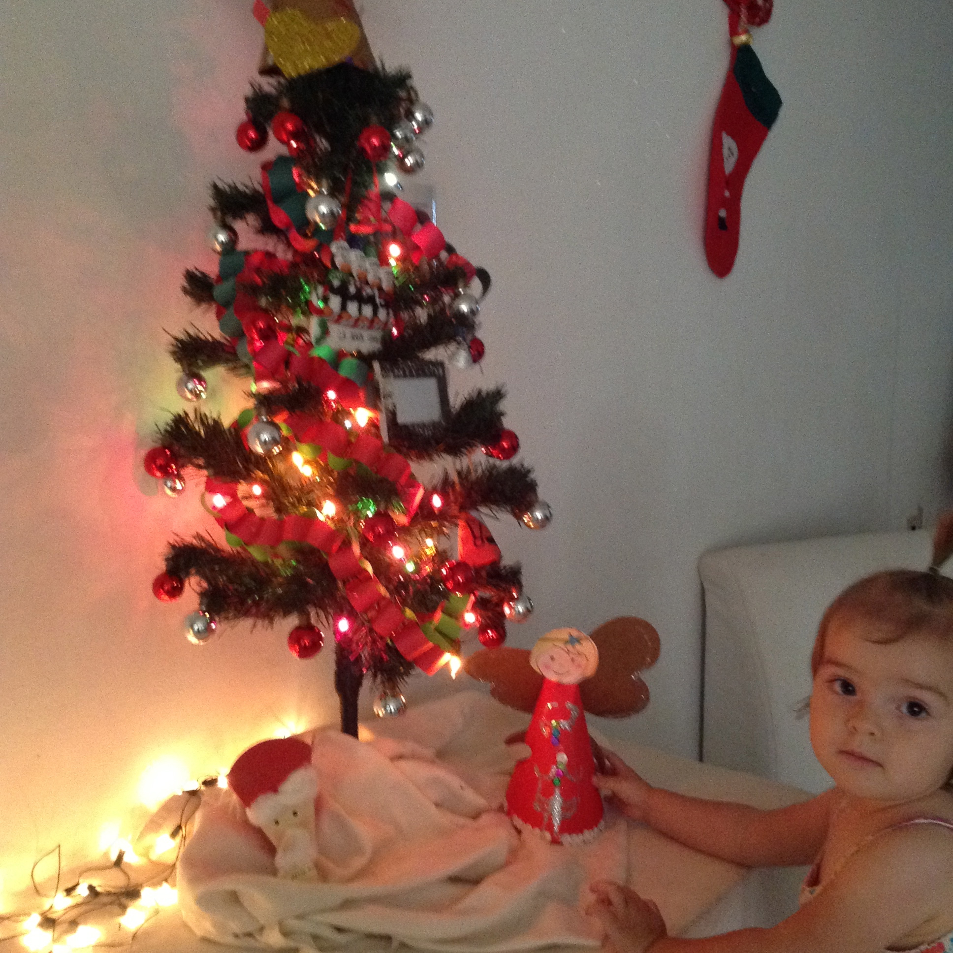 Our Charlie Brown Christmas Tree & Little F With An Angel