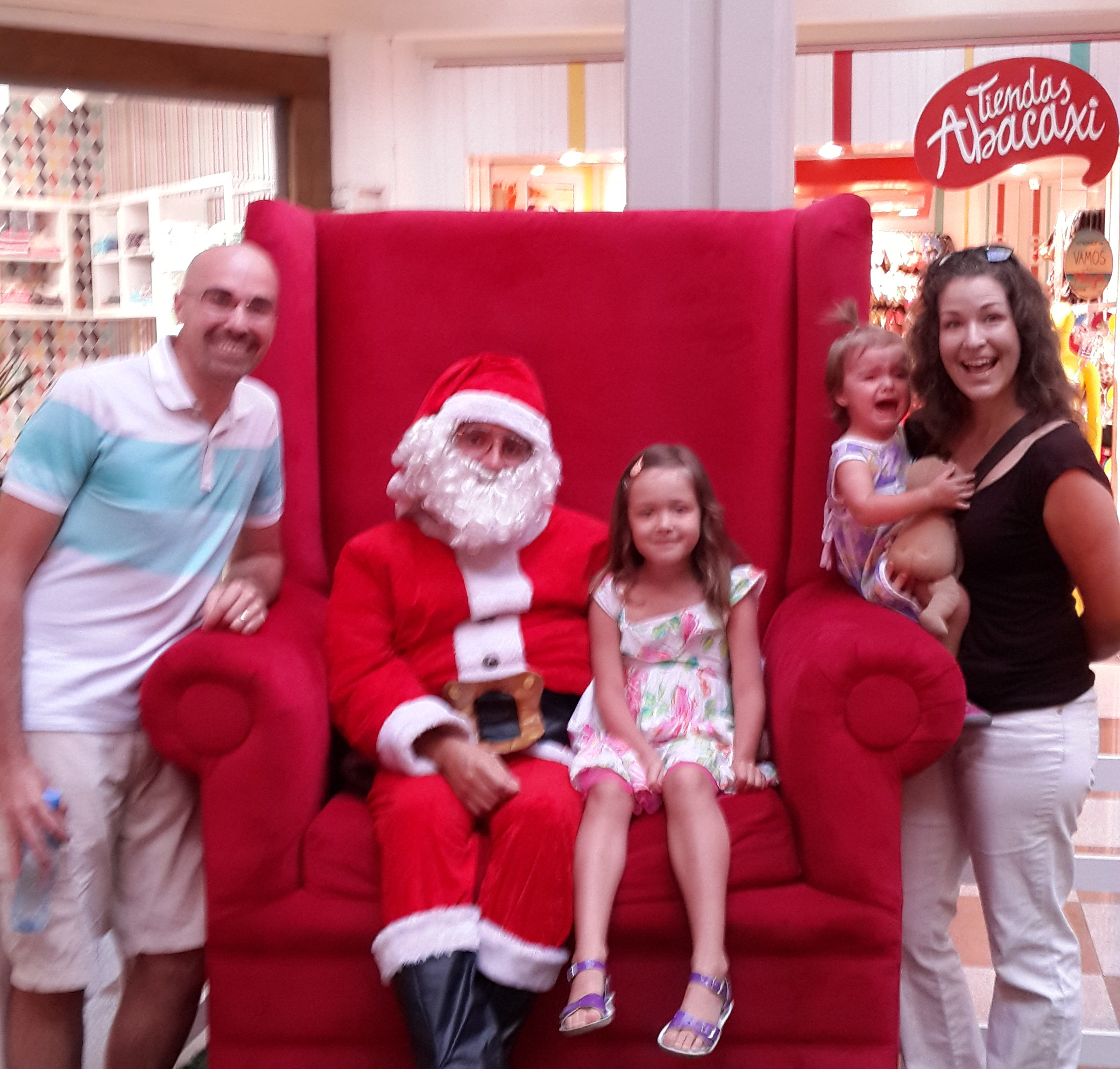 Visiting Papa Noel December 2013