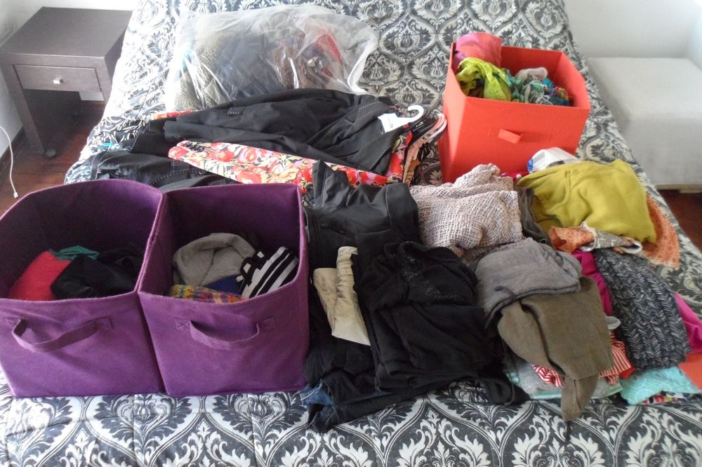Lisa's Clothes Before Sorting