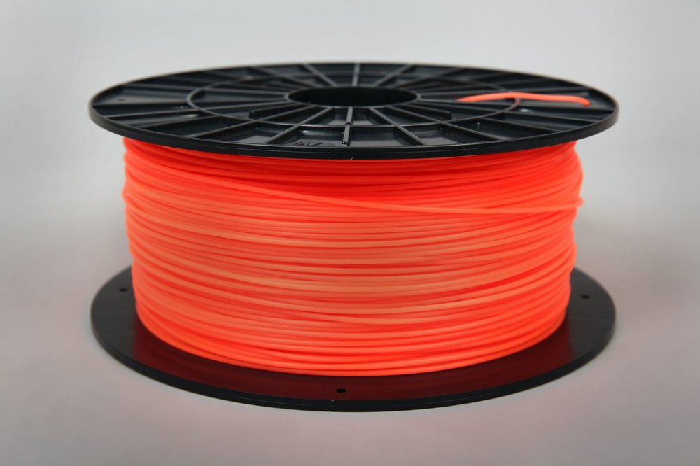 №31009 PLA fluorescent orange пластик  (1,75мм/1000г)