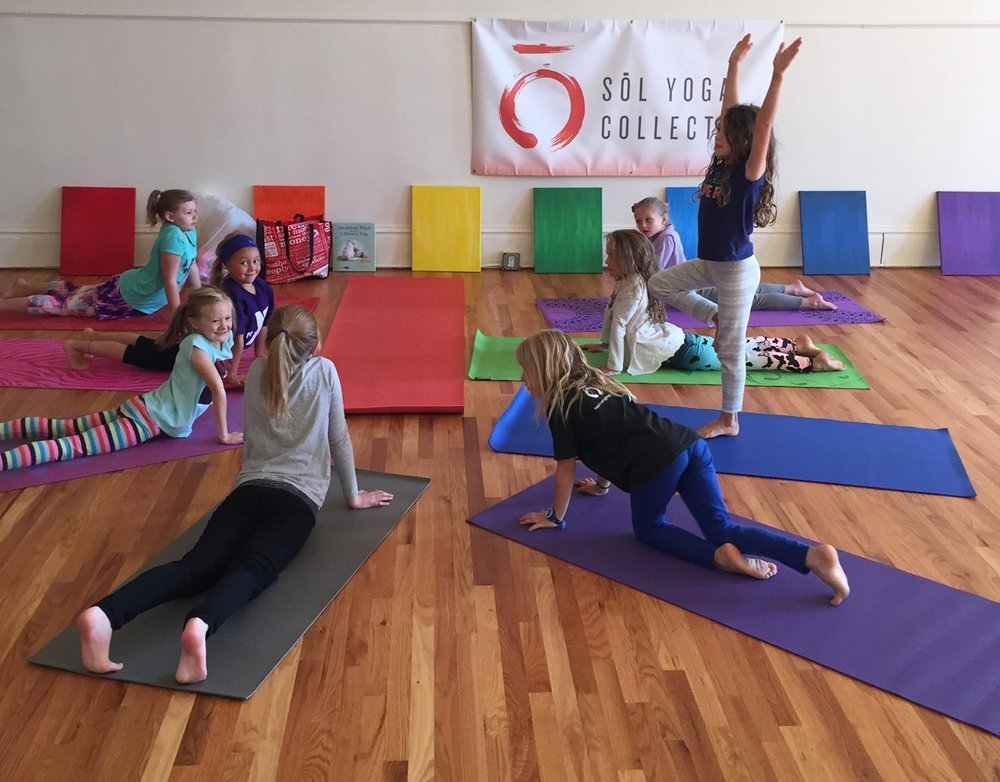 We would love to have your child or children join us for kids yoga!  Click the photo to purchase a 6 or 12 class pass.  Passes are good for an entire year!  *   Ages 3-5   meet first and third Saturdays from 11:00-12:00. *   Ages 6-12   meet second and fourth Saturdays from 12:00-1:00.
