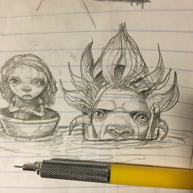 More doodles showed up. - #pencil #doodle #drawing  #newcontemporary #newcontemporaryart #lowbrow #lowbrowart #popsurreal #popsurrealism #instadoodle  #instaart #thomasascott