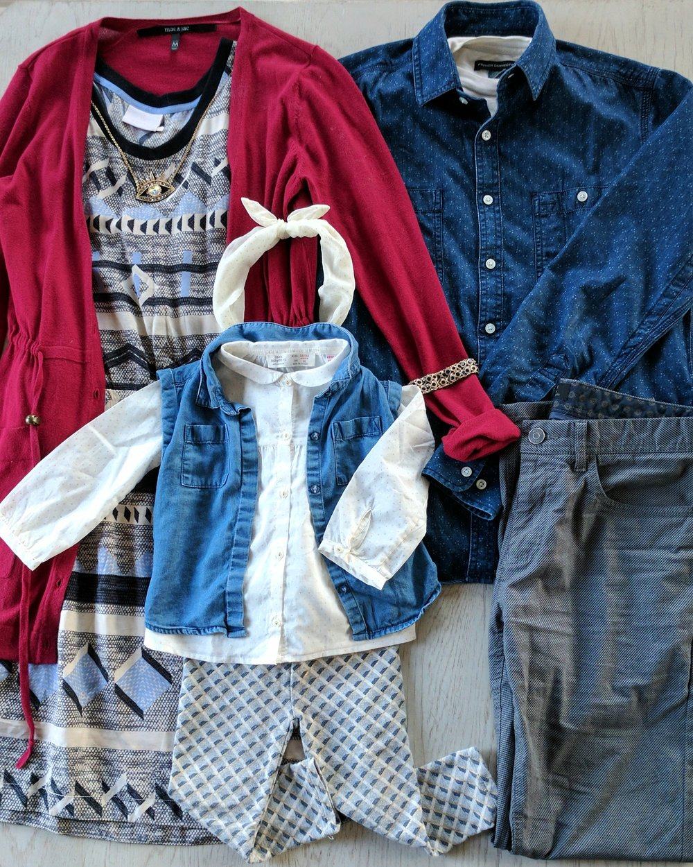 casual layers best family photo outfit ideas by maygen kardash