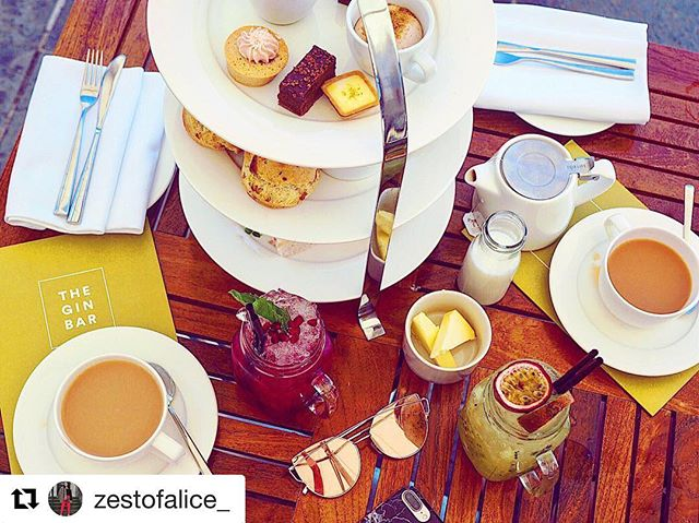 Afternoon tea is always available in The Gin Bar, whether you're celebrating a special occasion or just having a day out! Also available with @mineralhousecp spa packages! Fab image from @zestofalice_ ❤️ thank you!