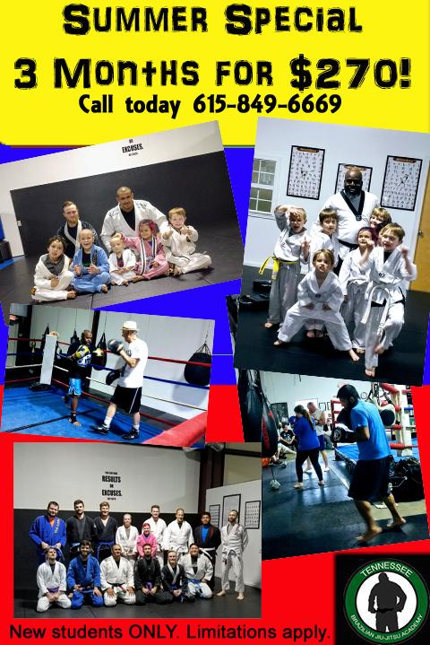 summerspecial/tbjjam/bjj/jiujitsu/boxing/kickboxing/muaythai/kidsclasses/taekwondo