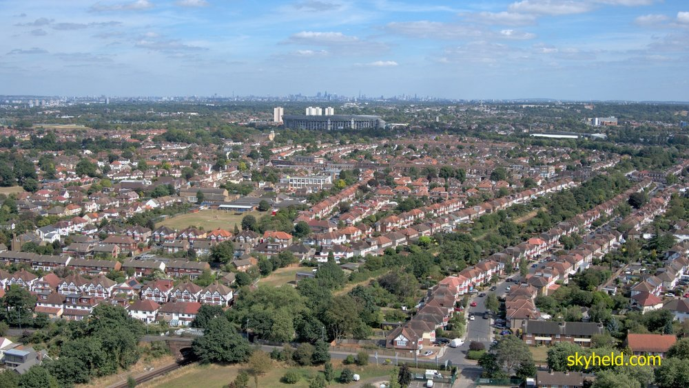 A view of Whitton, West London