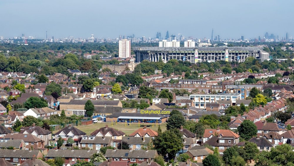 London skyline from Twickenham