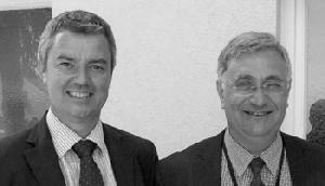 Bürgermeister Volker Kieber, of Bad Krozingen, Germany, and Dr. Joseph Azzopardi of the University of Malta
