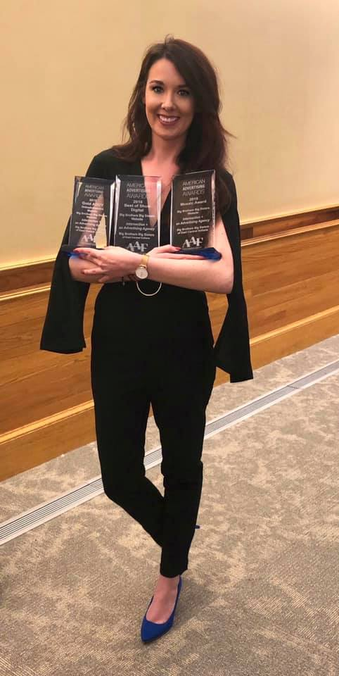 Board Member Extraordinaire Amanda showing off all BBBS' new hardware like Adele at the 2012 Grammys 💁‍♀️