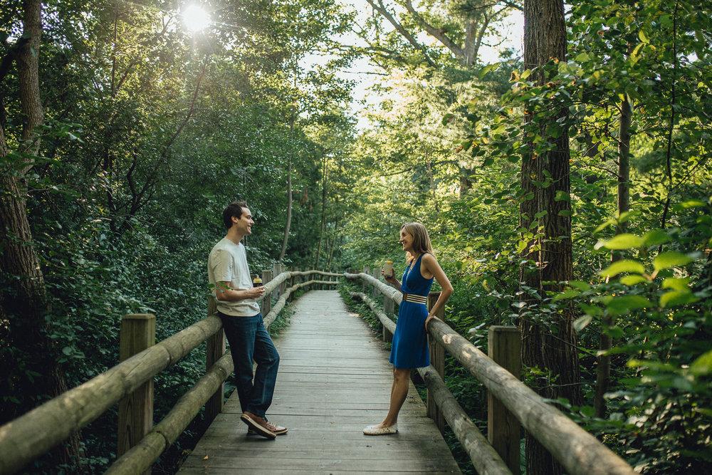 Brianna & Andrew Milwaukee Engagement  Milwaukee Boerner Botanical Gardens