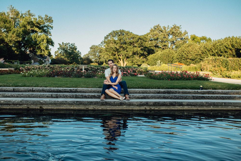 Brianna & Andrew Milwaukee Engagement Boerner Botanical Gardens