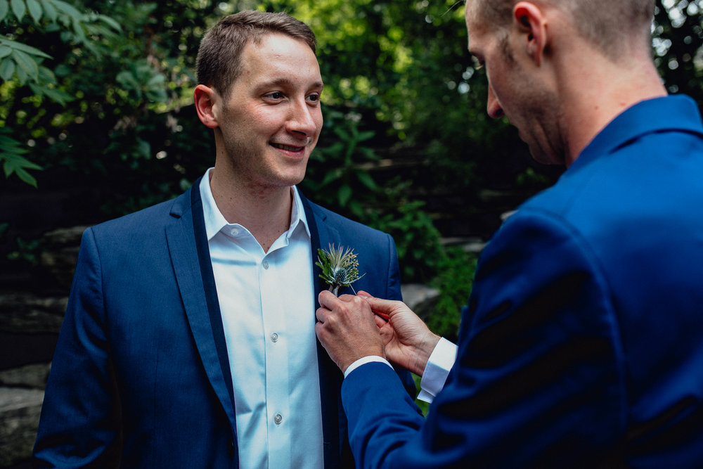 Modern Gay Chicago Wedding Elopement  - Emerald Tide Photography - The Thompson Lily Pool