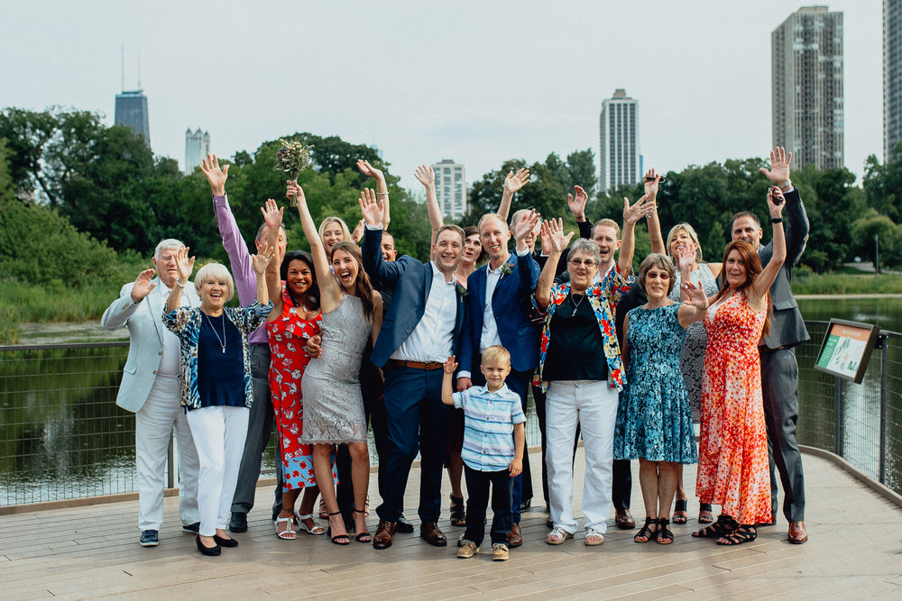 Lincoln Park Zoo Modern Gay Chicago Wedding Elopement  - Emerald Tide Photography - The Thompson
