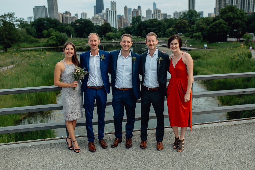 Lincoln Park Zoo Modern Gay Chicago Wedding Elopement  - Emerald Tide Photography