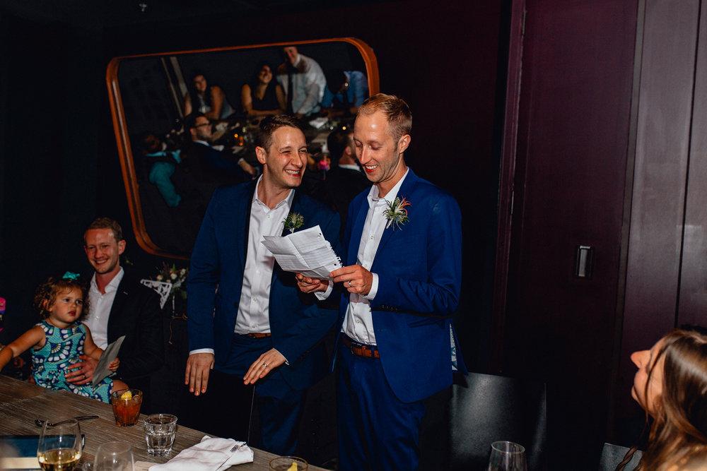 Luxury Modern Gay Chicago Wedding Elopement  - Emerald Tide Photography - Thompson Chicago