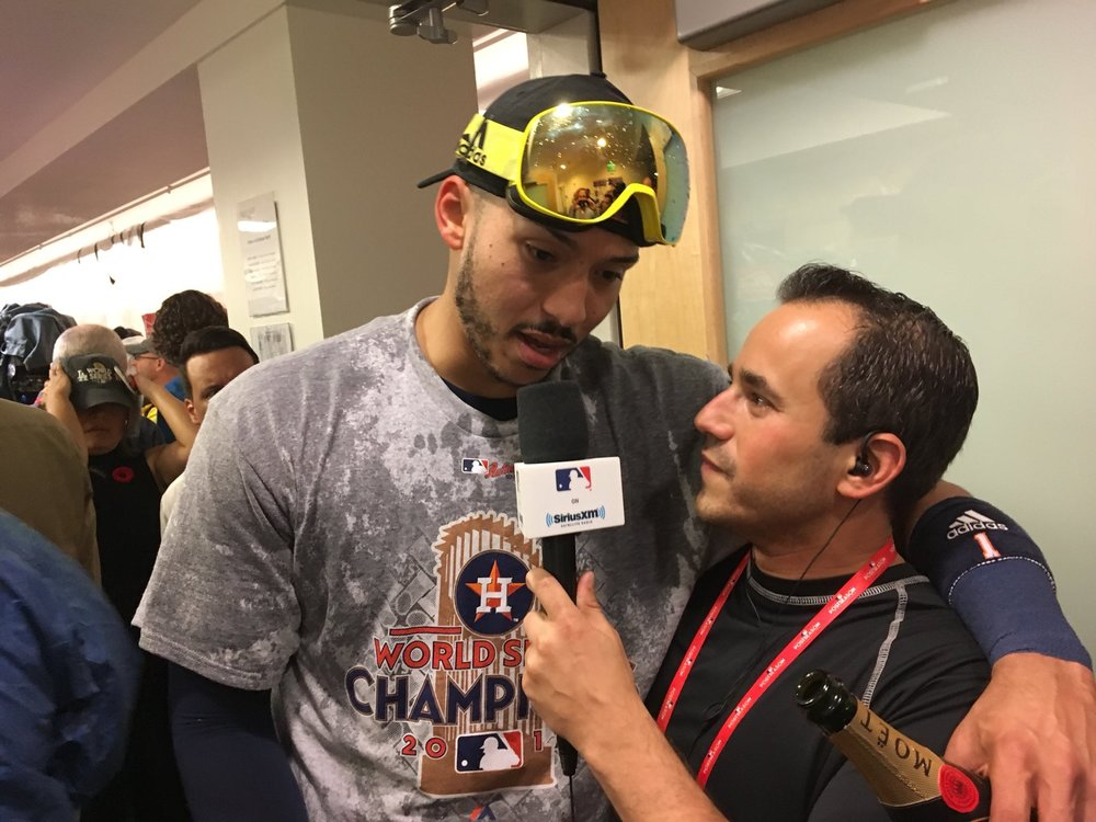 Casey Stern- World Series clubhouse interview.JPG