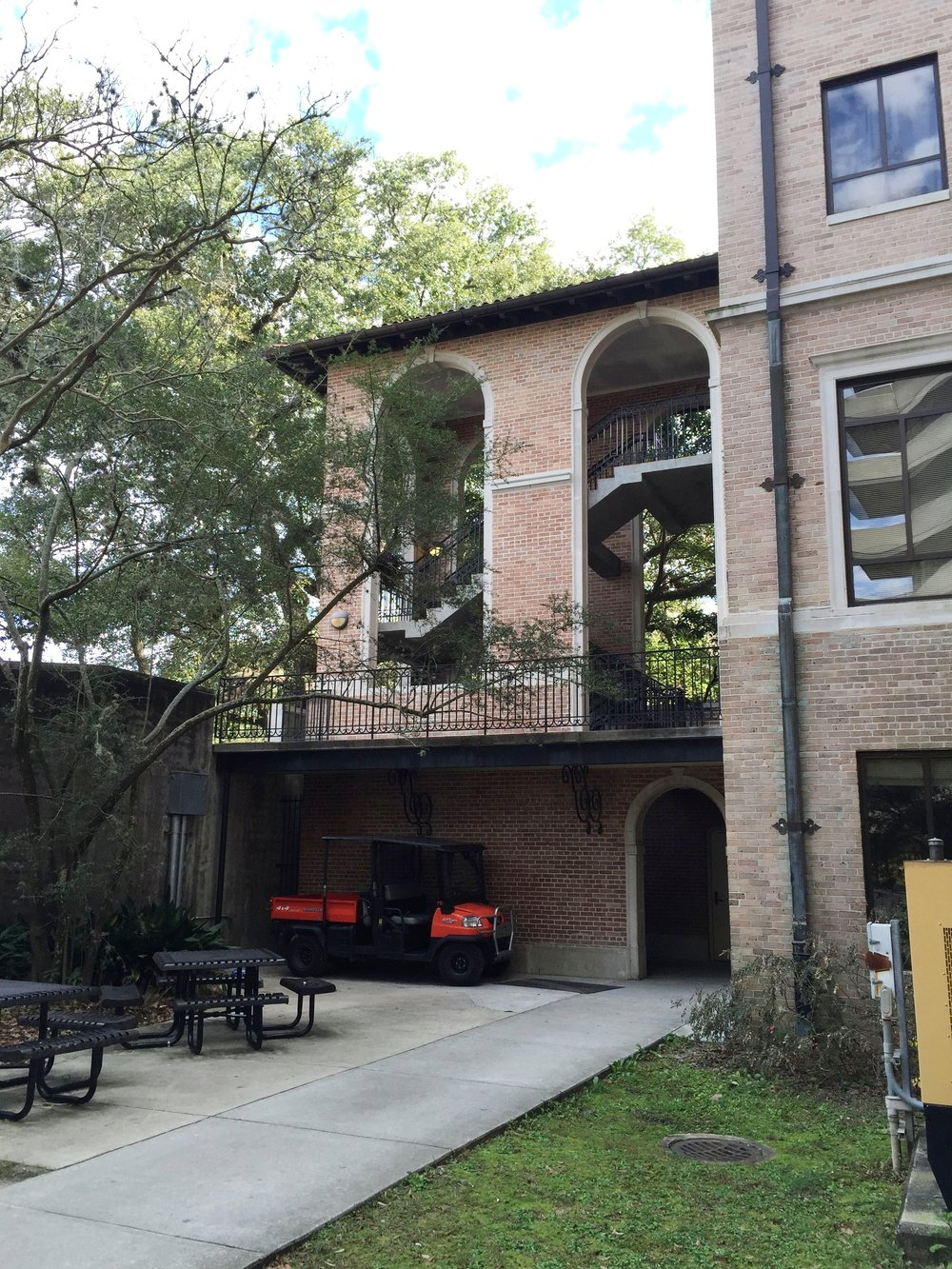 LSU Hodges Hall   North Stair Tower