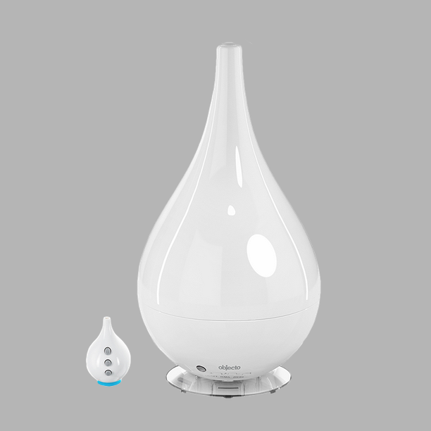 H4 Hybrid Humidifier Product Specifications: Dimensions: 8 x 8 x 14.4 inches Weight: 2.4 pounds Tank capacity 2.3 liters Runs for approximately 20 hours Humidifies 450 square feet Accessories include remote control and aroma tabs Available in white, black and metallic grey