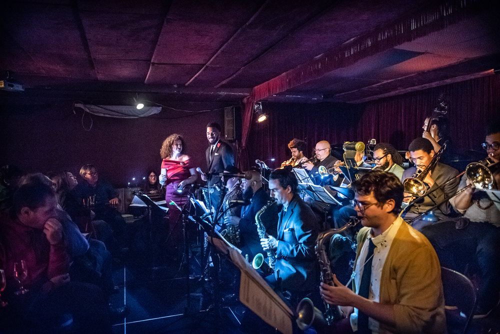 Svetlana's Big Band, Zinc Bar, NYC, Dec 2018. Photo by Nina Galicheva