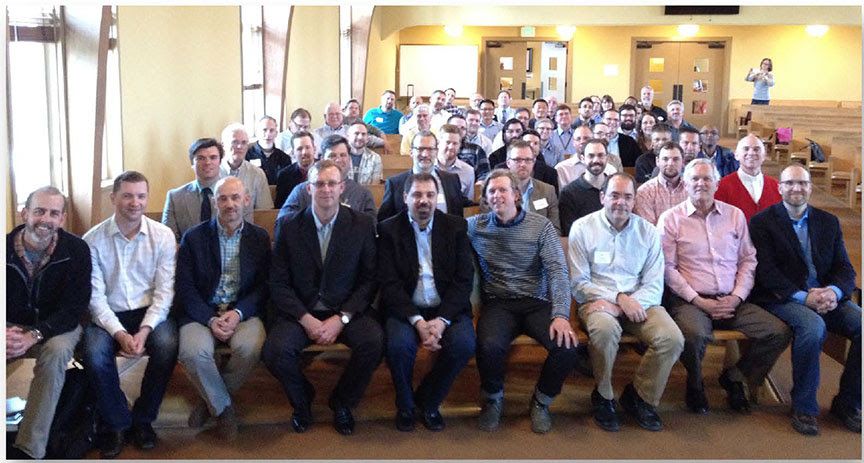 Future members of the Reformed Presbyterian Church of Eurasia with men of the Pacific Northwest Presbytery of the PCA