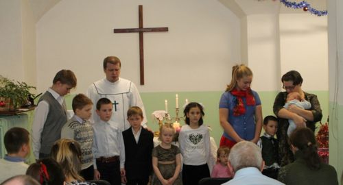 Blessing of Children during the Worship Service