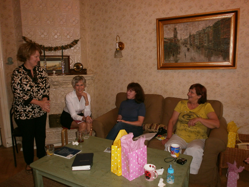 Women's session at Purcells' home