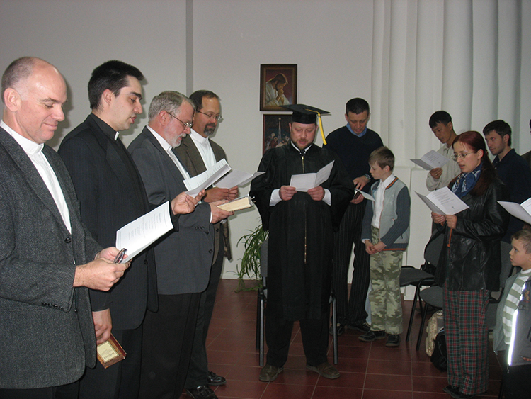 Graduation Ceremony for Igor Krutogolov.