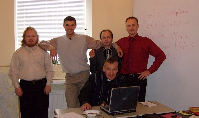 Full-time students with Oleg Volkov. Spring 2007.