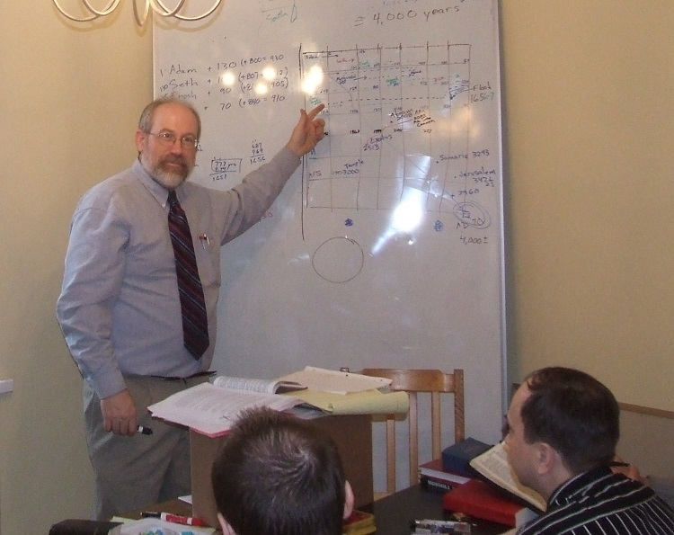Douglas Roorda teaching seminary students in March 2007.