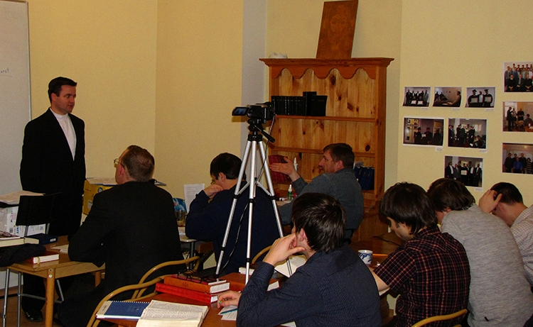 Eric Greene teaching in the seminary. March 2010.