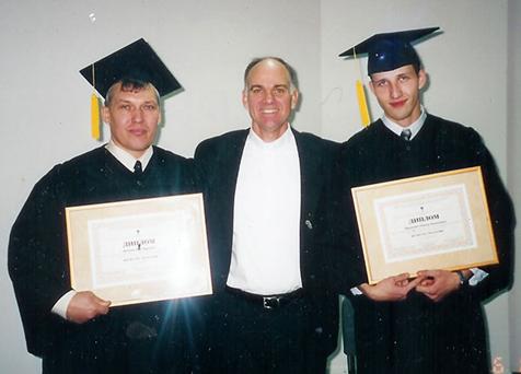 HopeRussia Seminary's First Graduates, 2003