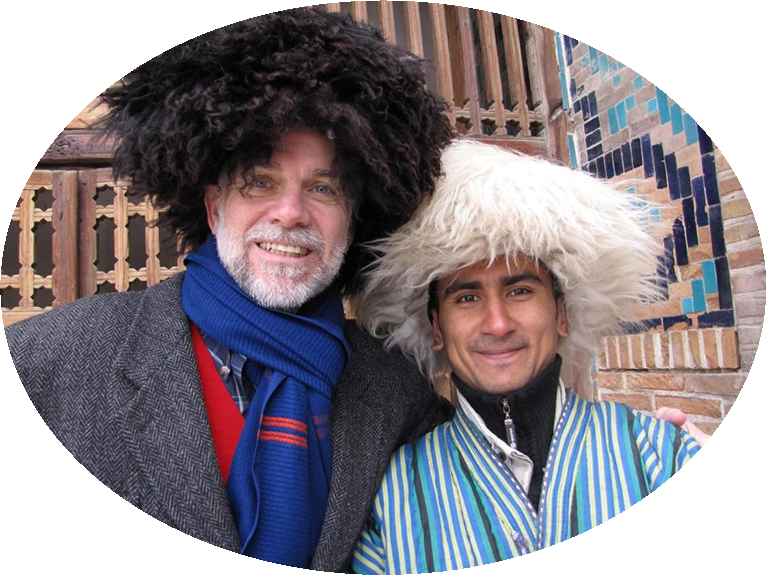 Here's an example of traditional headware, while church planting in the 'Stans (i.e. Usbekistan, Turkmenistan, etc).