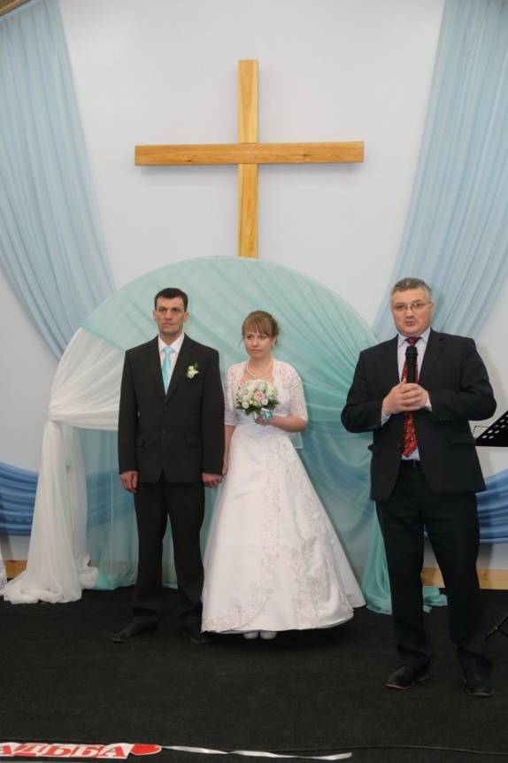 Eugene's Wedding Day; Pastor Andrey Chernyavski Officiating