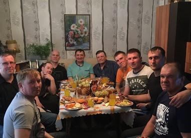 - Here I am Saturday, March 30, in Katlan, Siberia, with pastor Roma to my left, and his cool men after a hot banya and even hotter message from the Word on the need to fight the use of pornography in their lives. Blessed are the pure in heart, for they shall see God!