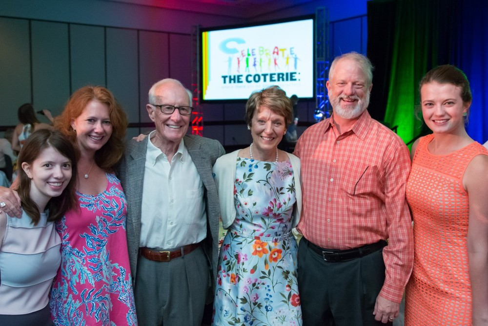 Lifetime Achievement Award Recipients Laura and David Hall with their family.    Photo by J Robert Schraeder Photography.