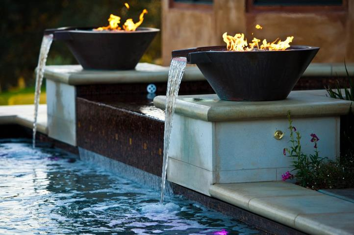 Original line bobe water fire for Pool fire bowls